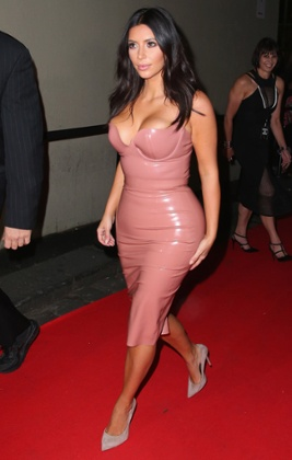 Kim Kardashian promotes her fragrance in Melbourne, Australia.