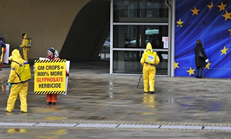 MDG : Genetically Modified,  GM protest at EU Commission headquarters in Brussels