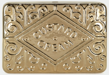 The Anya Hindmarch Custard Cream Clutch.