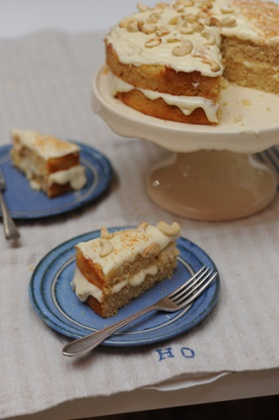 Parsnip, cashew and coconut cake