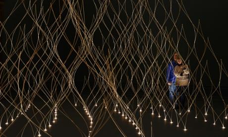 Ambitious ... Kengo Kuma's installation at Sensing Spaces.