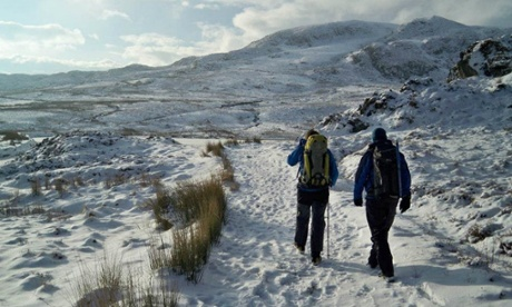 Welsh winter mountaineering