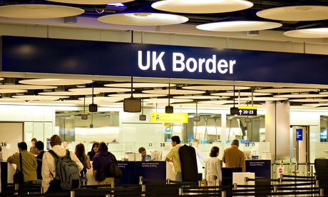 UK Border control at Terminal 5 Heathrow