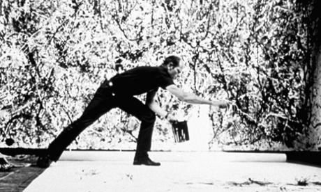 Jackson Pollock at work