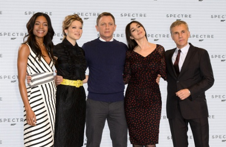 The cast of Spectre, the new James Bond film