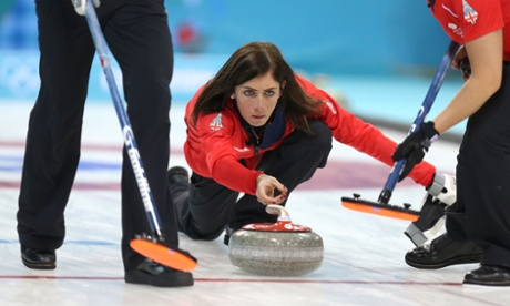 A good day for Great Britain at the curling centre saw the women's team soundly beat the USA 12-3.