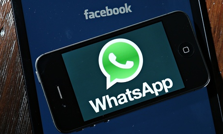 Fackbook and WhatsApp logos on a portable device