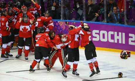 Canadians Take the Gold (Photo courtesy of The Guardian)