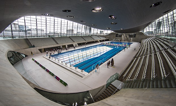 39 it 39 s like swimming in a spaceship 39 aquatics centre opens - London swimming pools with slides ...