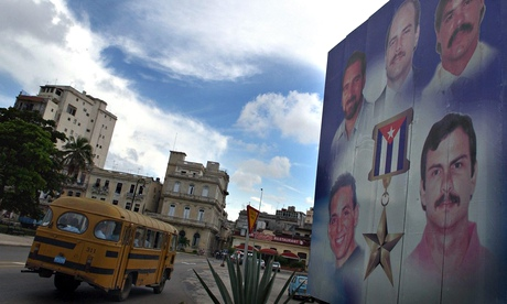Miami five: a billboard in Havana