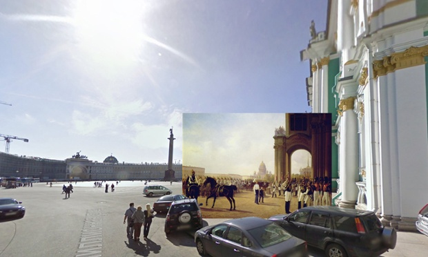 St Petersburg - Palace Square 1800s Adolphe Ladurner