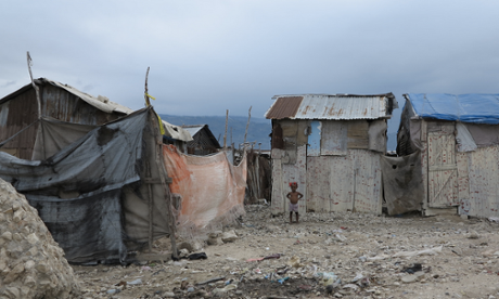 A child in one of Haiti's slum.