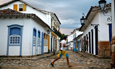 Colonial houses in the historic part of Paraty, in the state of Rio de Janeiro state, Brazil.