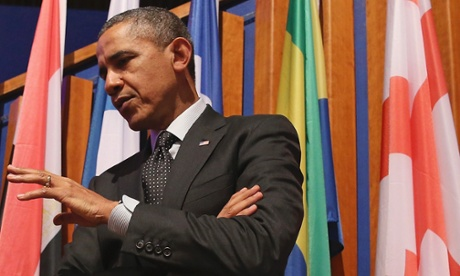 Barack Obama in The Hague.
