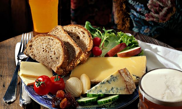 lunch ploughman ploughmans eat food guardian melbourne cheese recipe english traditional pub alamy photograph country