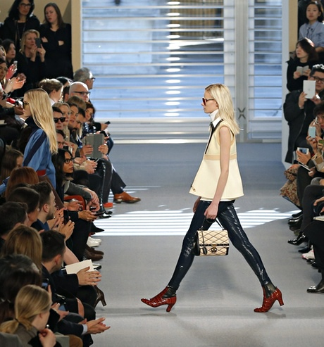 Nicolas Ghesquière's first collection for Louis Vuitton at Paris fashion week.
