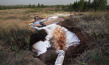 Pipe discharging water Shenhua