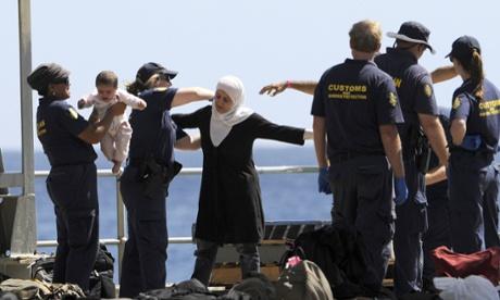 Asylum seekers arrival Christmas Island