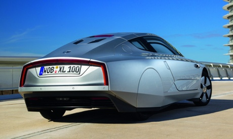 Retro-future … the XL1 is 'the world's most efficient liquid-fuelled production car'.