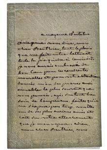 Joséphine Bonaparte letter to Alexandre Berthiere