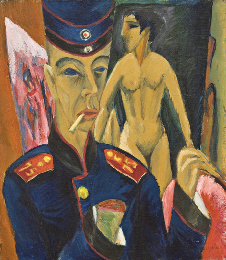 Ludwig Kirchner's Self Portrait As Soldier (1915)