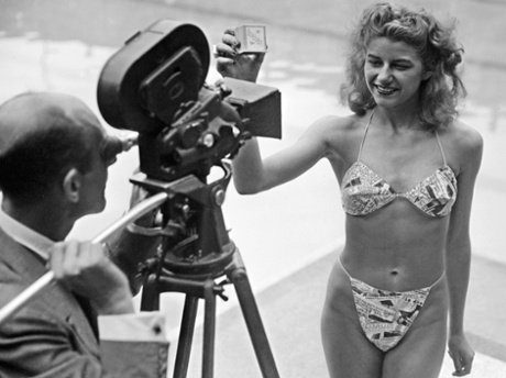 The first bikini, worn at Piscine Molitor in 1946.