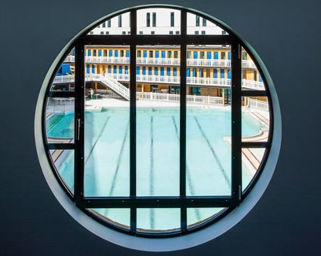 The redeveloped Molitor pools have reopened as part of a hotel complex.