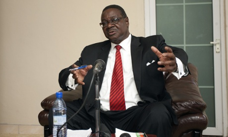 Democratic Progressive Party (DPP) president Peter Mutharika at a press conference on 24 May, 2014 in Blantyre