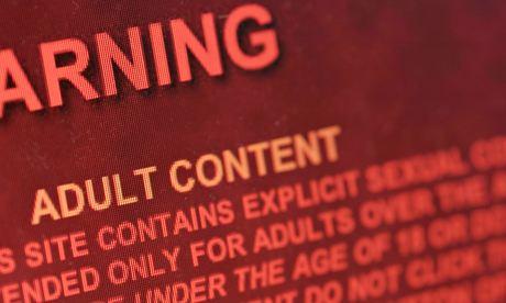 Pornography website warning message