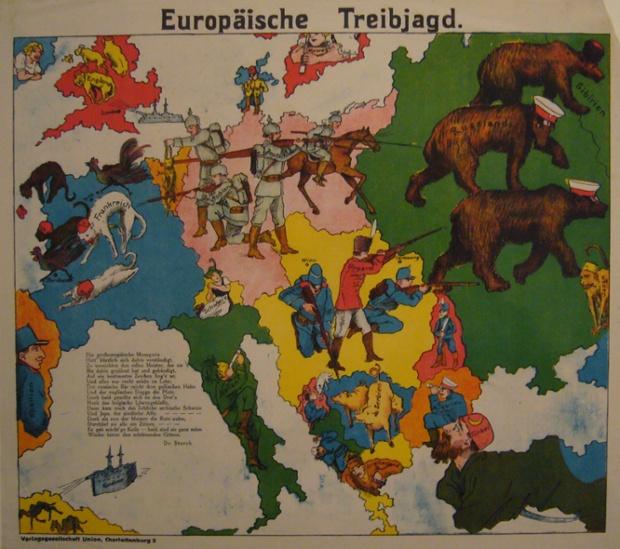 Anonymous harita Charlottenburg Verlagsgesellschaft Birliği, Berlin'de bir banliyösünde tarafından 1914 yılında basılmış.