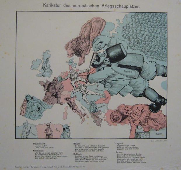 F. Klotz ve G. Cremer tarafından Köln'de yayınlanan 1914 Fritz Elsner haritası.