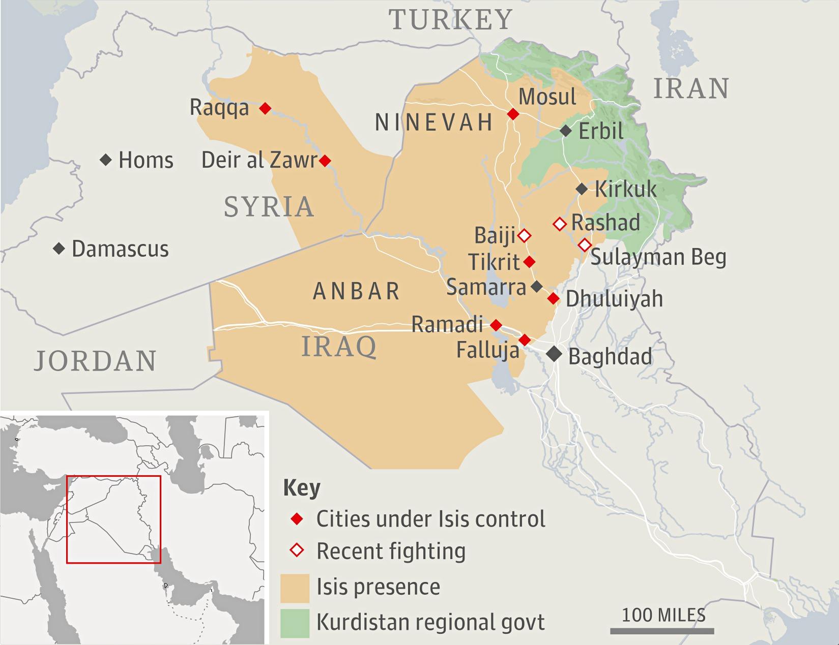 Iraqi Kurdish forces take Kirkuk as Isis sets its sights on Baghdad on israel world map, turkey world map, nyc world map, scotland world map, balkans world map, lebanon world map, serbia world map, golan heights world map, mali world map, germany world map, rwanda world map, gaza on world map, south ossetia world map, palestine world map, george world map, kobani world map, taiwan world map, iceland world map, kazakhstan world map, chad world map,