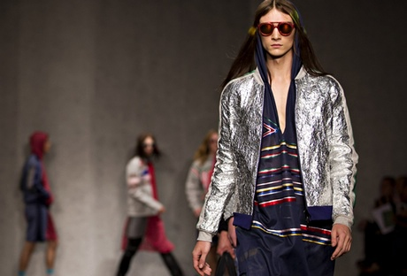 Silver at James Long catwalk - London Collections: Men 2014