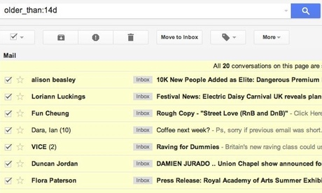 The power of search   Gmail
