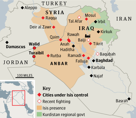 Isis captures more Iraqi towns and border crossings
