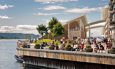 The waterfront at Tjuvholmen, Oslo