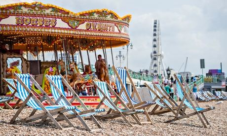 Brighton beach in the summer, July 2014