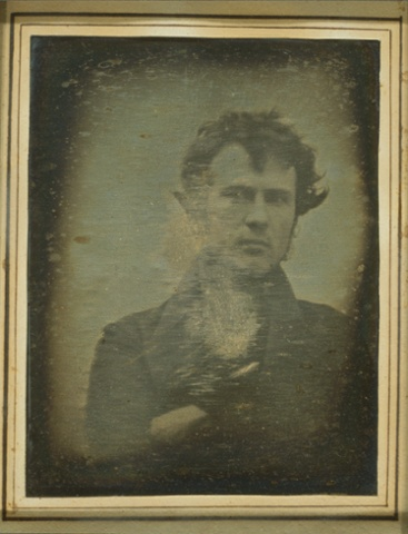 Robert Cornelius in 1839, believed to be the world's first selfie