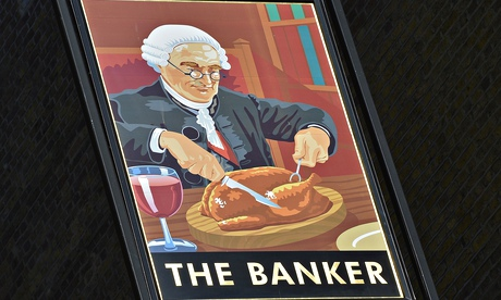 The Banker pub sign