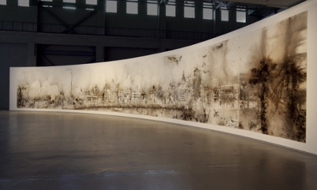 The Bund Without Us by artist Cai Guo Qiang