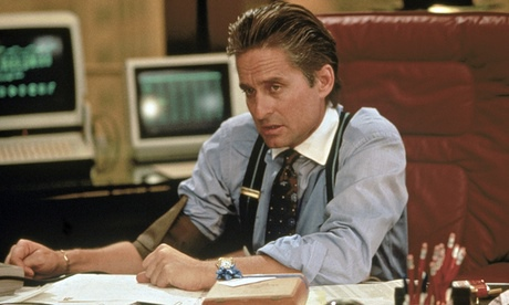 Michael Douglas in Wall Street.