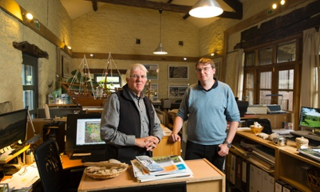 Derrick and Elliot Hartley of Garsdale Design in Sedbergh. Photograph: Christopher Thomond for the Guardian