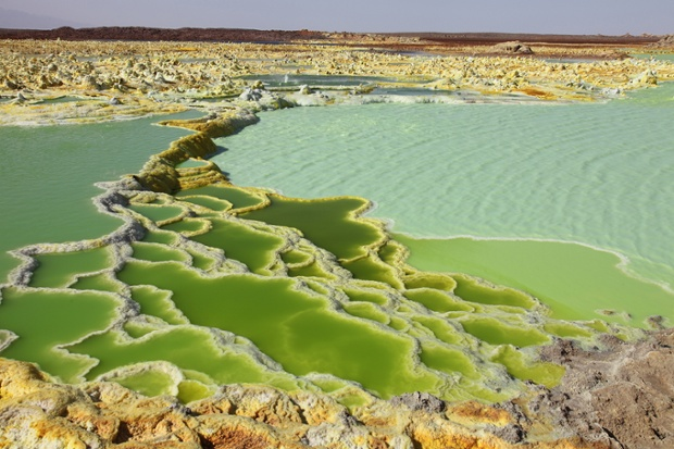 Dallol, a volcanic crater in Ethiopia.