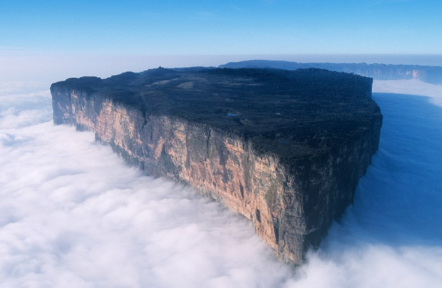 Mount Roraima at the triple border point between Venezuela, Brazil and Guyana.