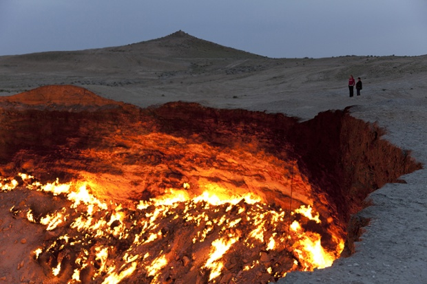 The Door to Hell in Turkmenistan.