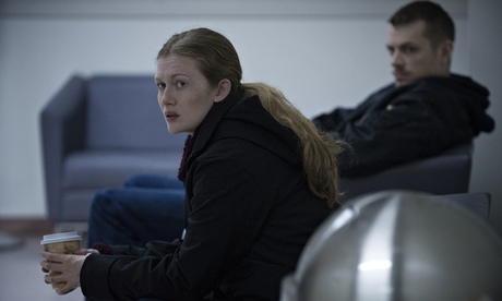 Mireille Enos and Joel Kinnaman in The Killing.