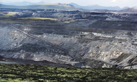 The opencast coal mine in Muli run by the Kingho energy group, Qinhai province, on 20 June 2014.