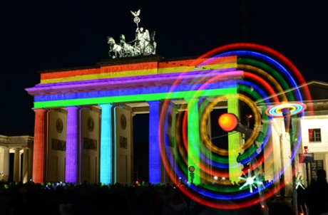 Berlin lights show