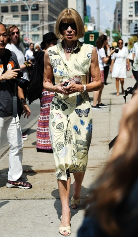 Anna Wintour at the Jason Wu show