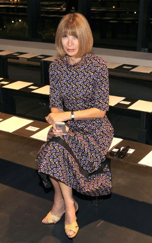 Anna Wintour at the Altuzarra show